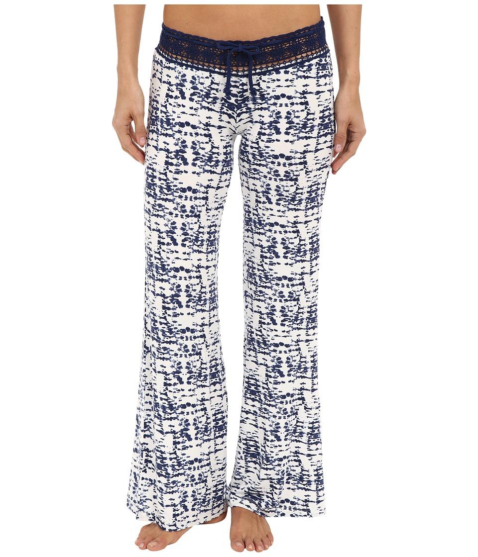 P.J. Salvage - Tie-Dye Crochet Waist Pants (Ivory) Women's Pajama