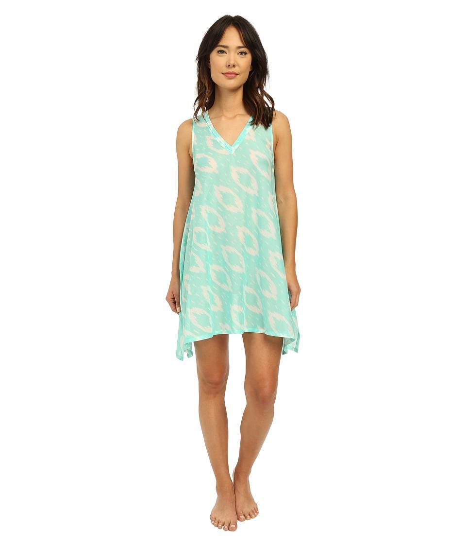 Natori - Batik Tank Tunic (Seafoam) Women's Pajama