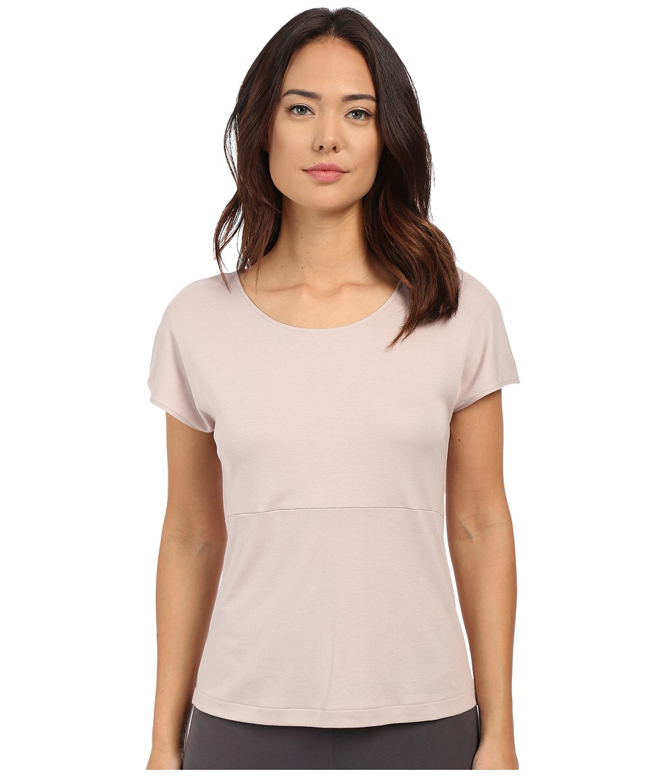 Hanro - Rosa Short Sleeve Top (Ivory Bead) Women's Pajama