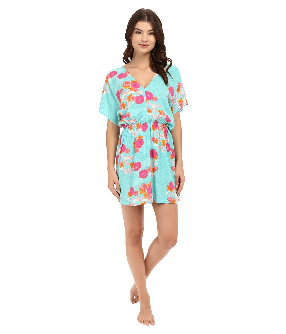 Josie - Posy Clouds Sleepshirt (Teal) Women's Pajama