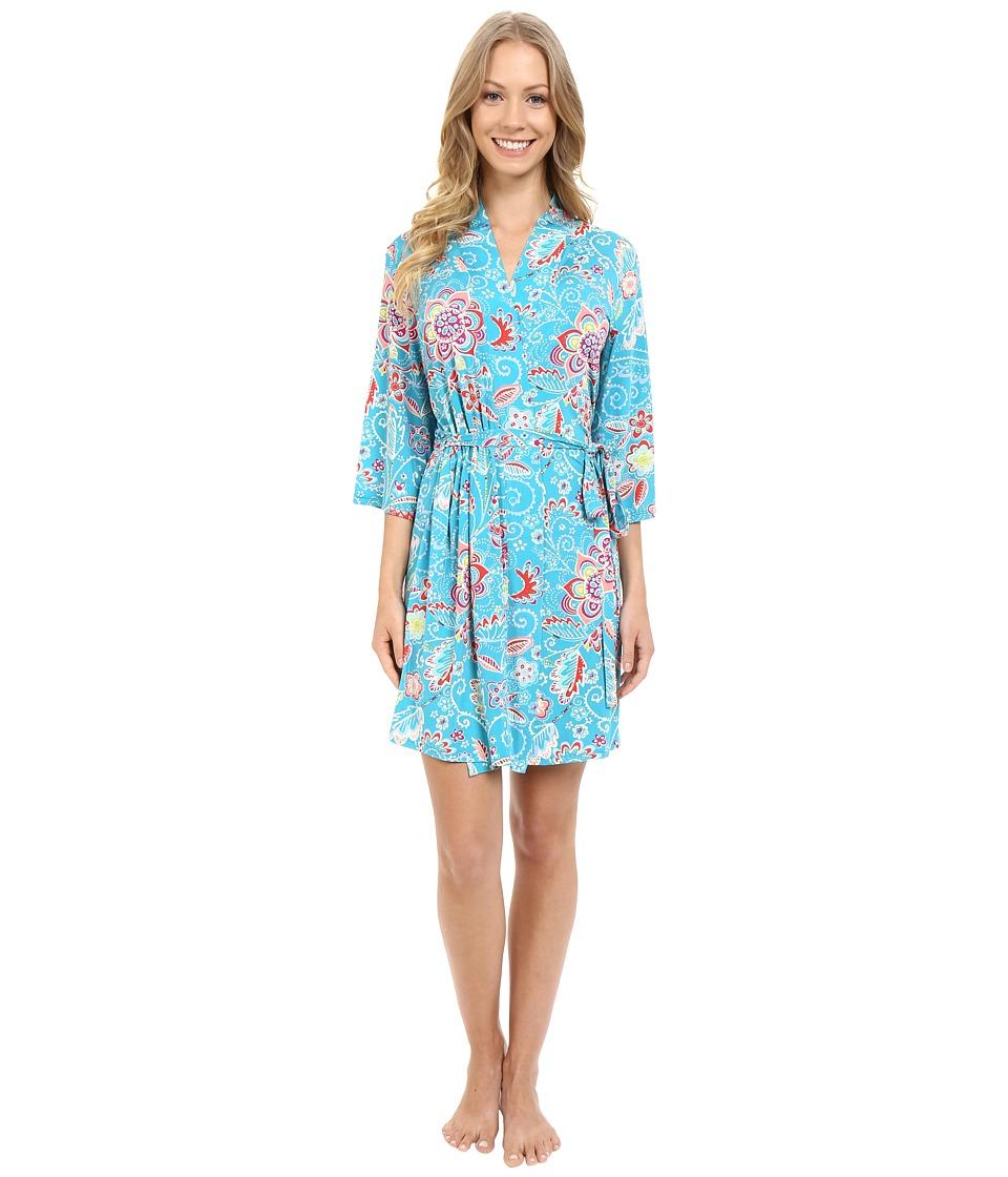 Josie - Retroquake Wrap (Jade) Women's Pajama