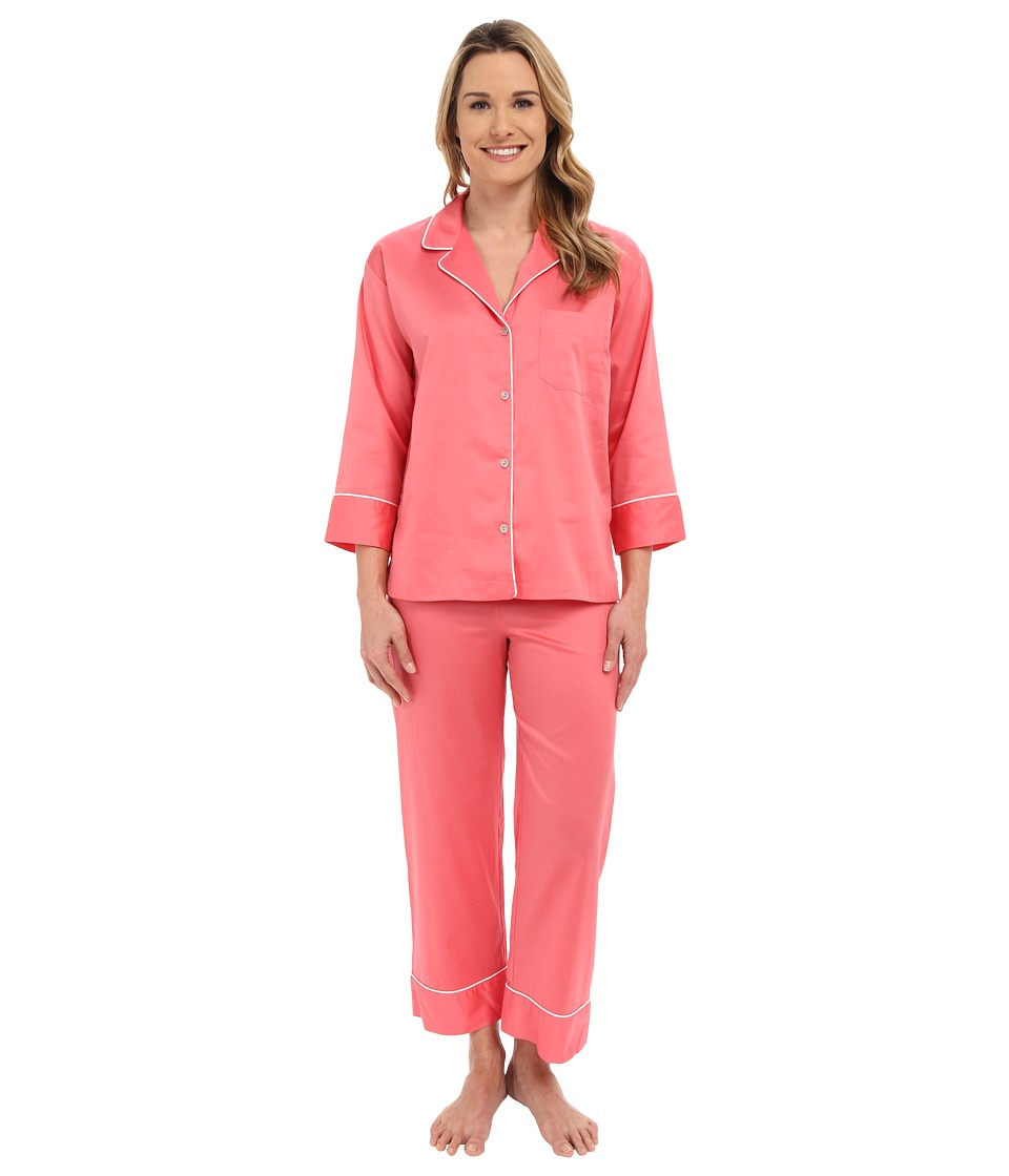 Natori - Cotton Sateen PJ (Daiquiry Pink) Women's Pajama Sets