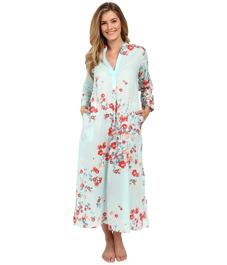Natori - Fiore Caftan (Blue Multi) Women's Pajama