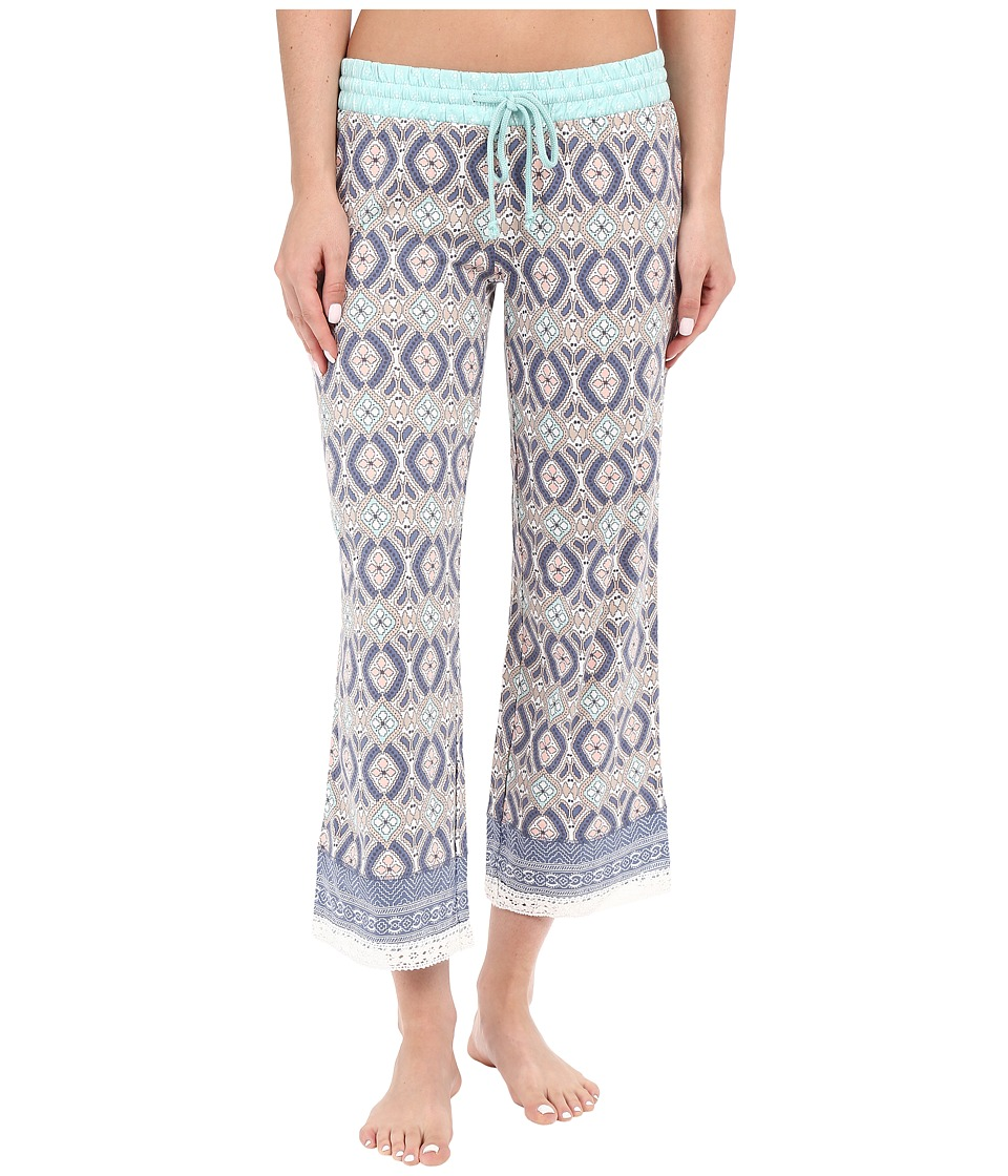 P.J. Salvage - Miss Matched Crop Sleep Pants (Natural) Women's Pajama