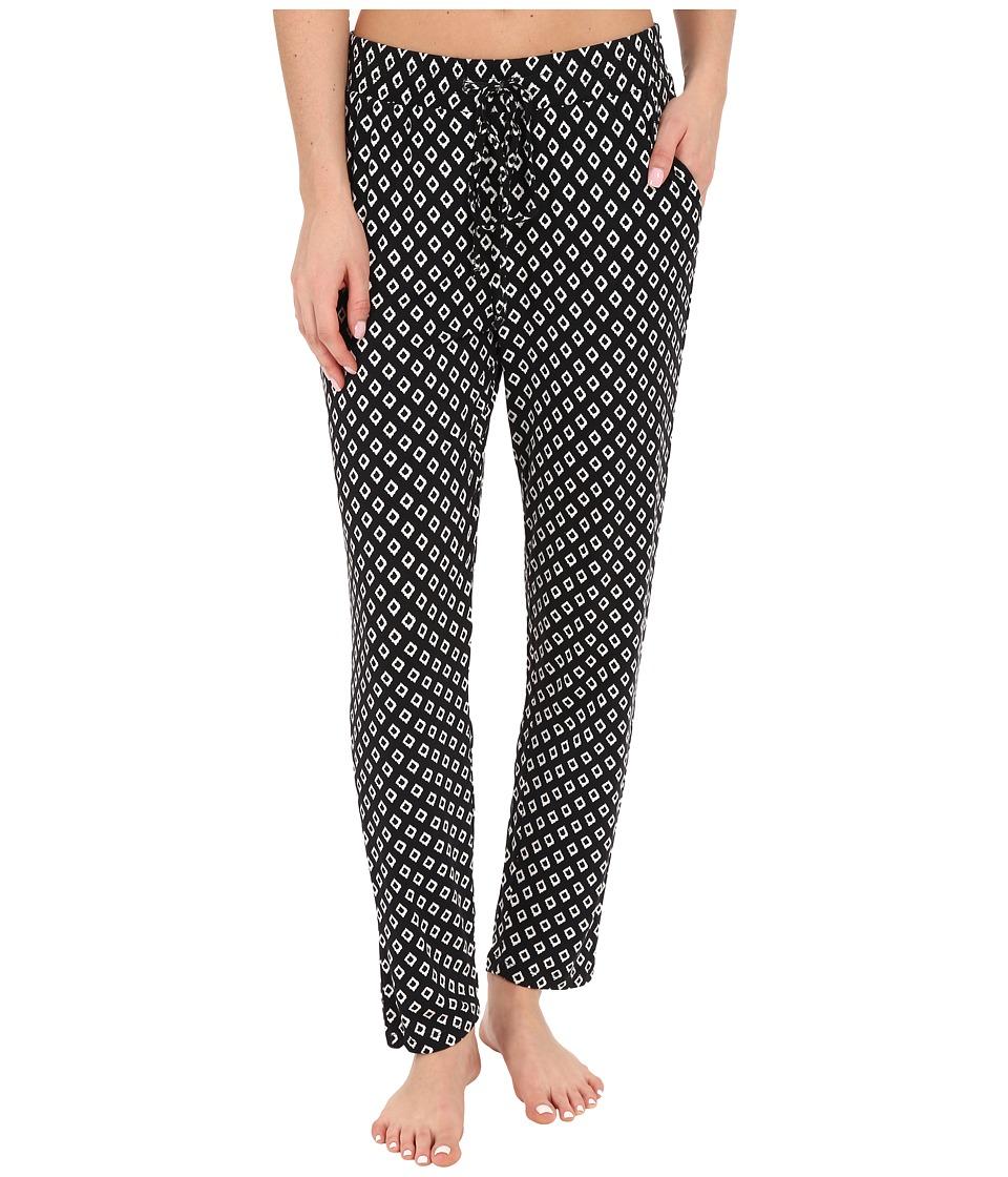 P.J. Salvage - Ikat Dot Lounge Pants (Black) Women's Pajama