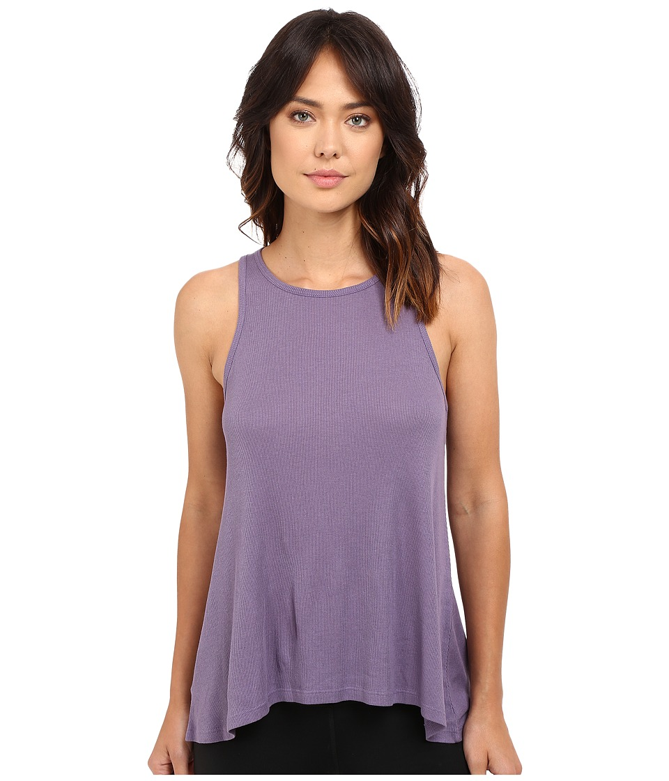 Yummie by Heather Thomson - 2x1 Pima Rib Racer Tank Top (Mulled Grape) Women's Sleeveless