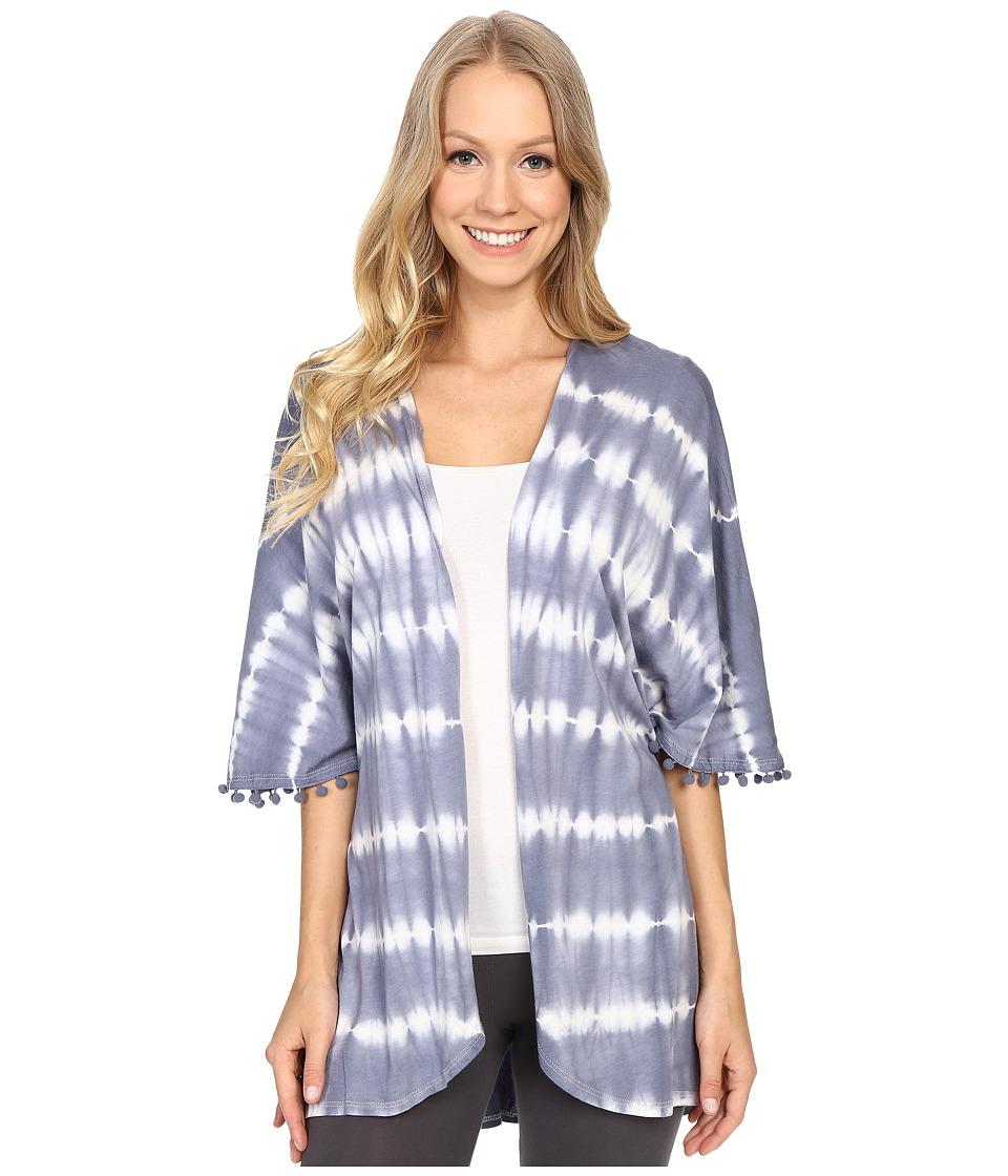 P.J. Salvage - Tie-Dye Jersey Kimono (Denim) Women's Pajama