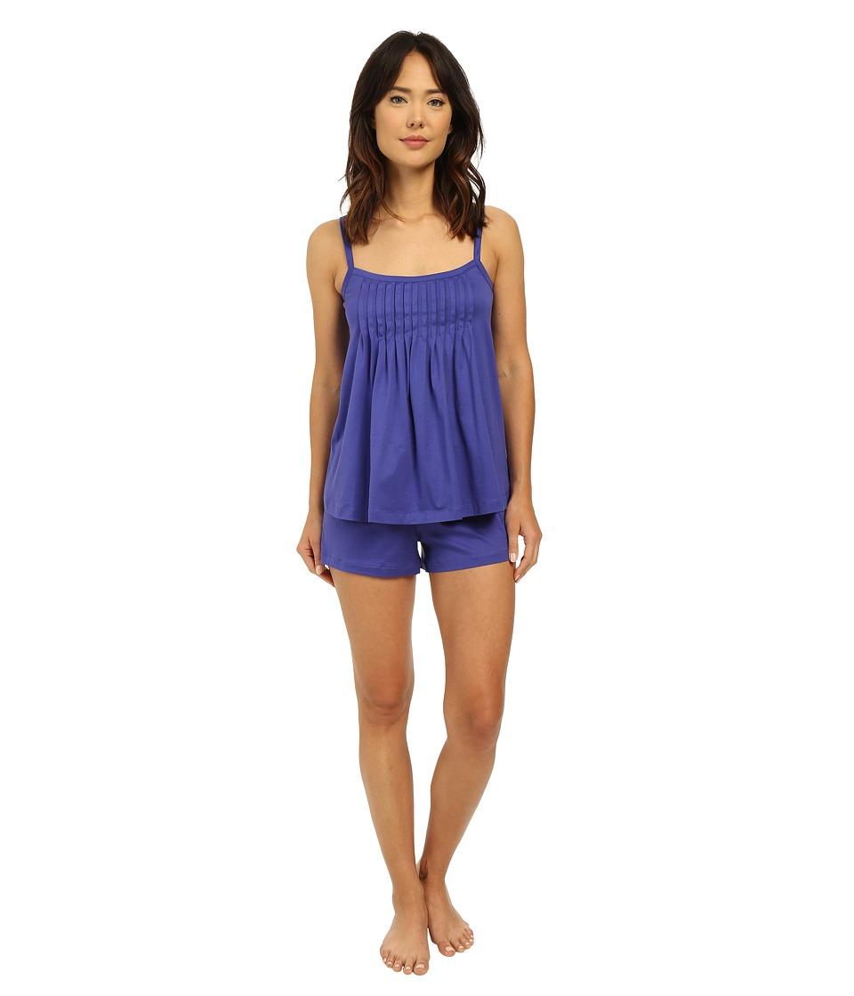 Hanro - Juliet-Basic Short Pajama (Electric Blue) Women's Pajama Sets