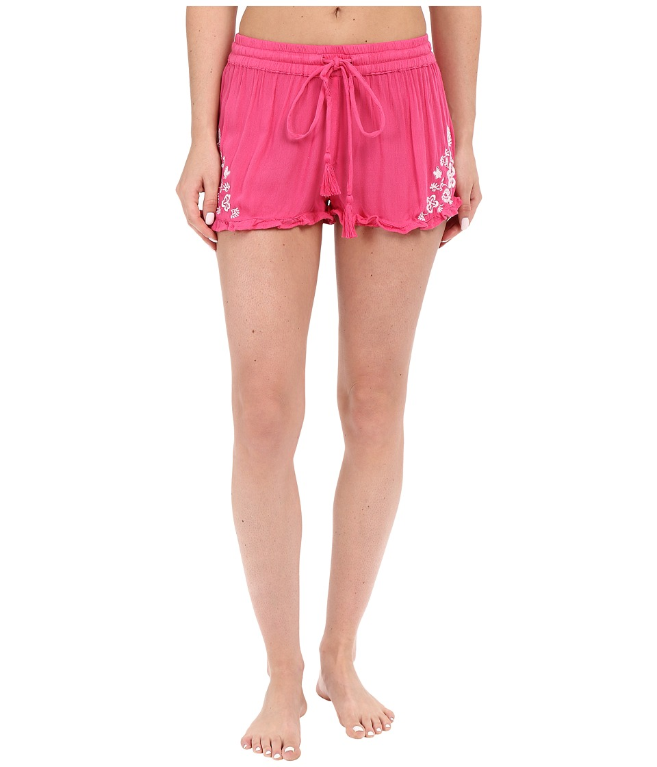 P.J. Salvage - Embroidered Sleep Shorts (Fuchsia) Women's Pajama