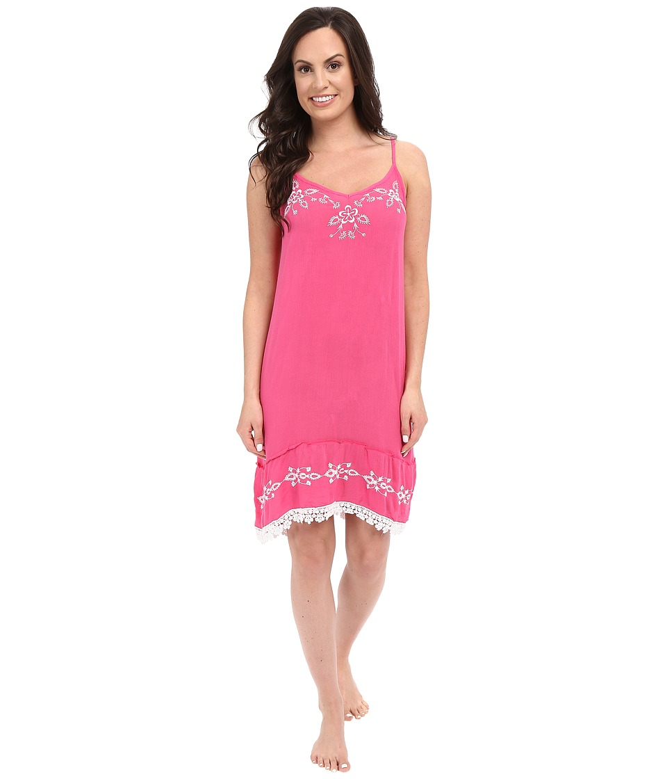 P.J. Salvage - Embroidered Chemise (Fuchsia) Women's Pajama