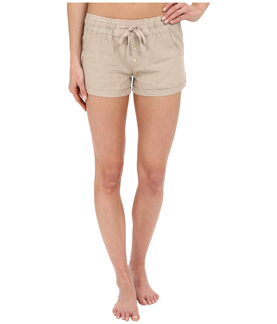P.J. Salvage - Washed Linen-Blend Shorts (Champagne) Women's Pajama