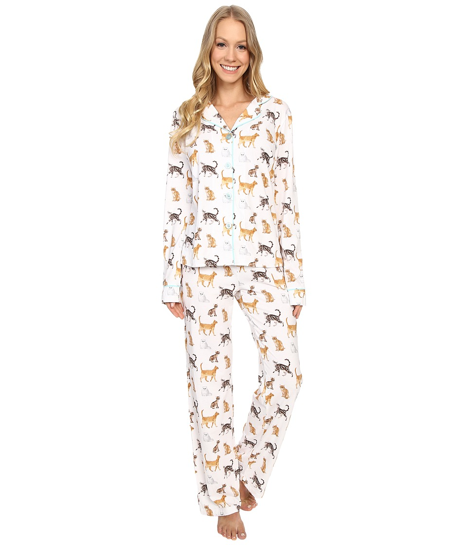 P.J. Salvage - Cat Print PJ Set (Ivory) Women's Pajama Sets