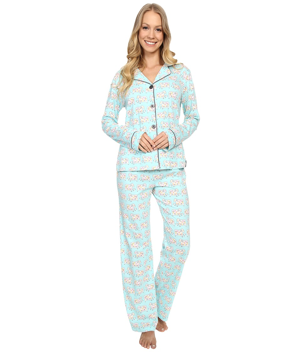 P.J. Salvage - Pastel Sheep PJ Set (Mint) Women's Pajama Sets