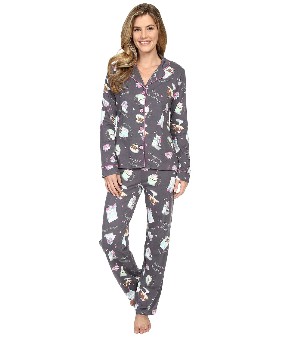 P.J. Salvage - Happy Birthday PJ Set (Grey) Women's Pajama Sets
