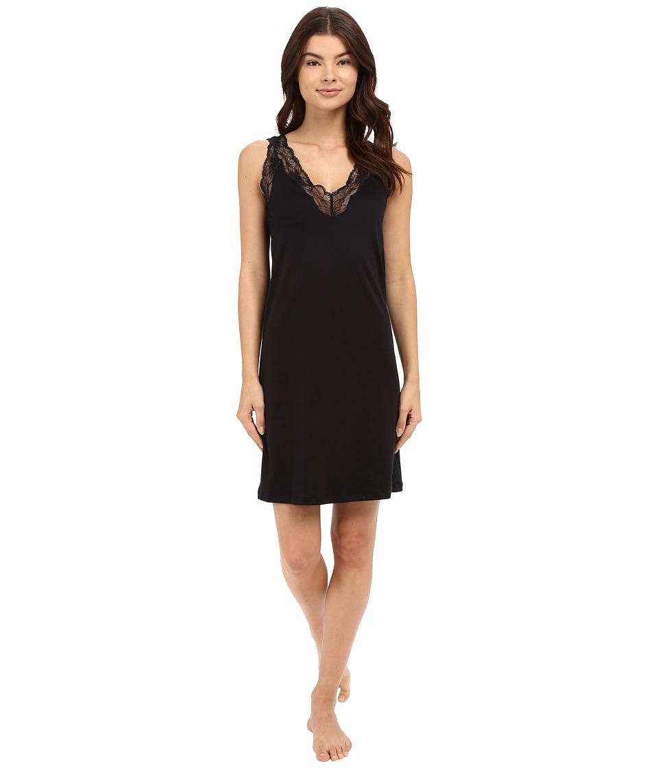 Hanro - Valencia Tank Gown (Black) Women's Pajama