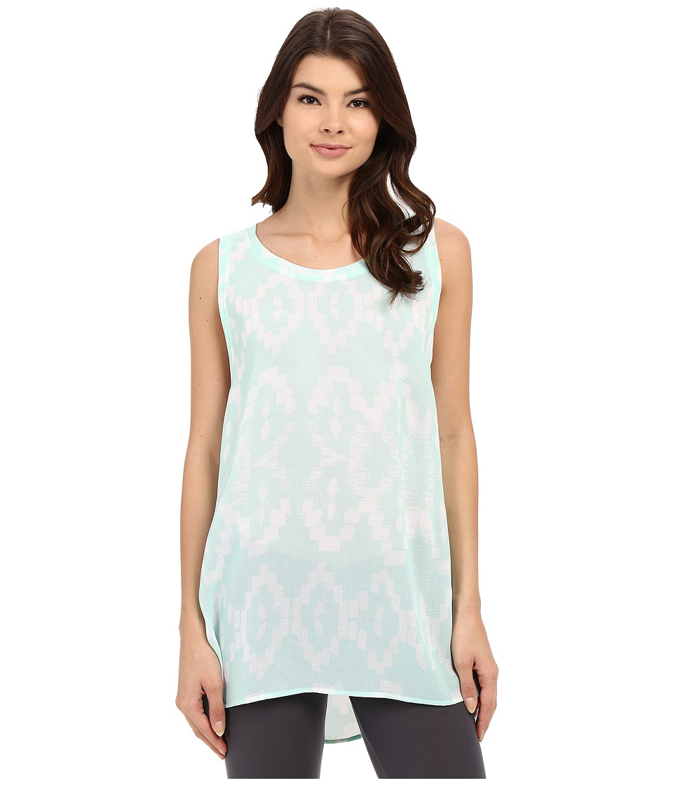 Lysse - Aria Zip Sleeveless (Aqua Samba Print) Women's Sleeveless