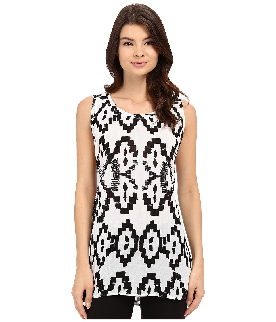 Lysse - Aria Zip Sleeveless (Black Samba Print) Women's Sleeveless