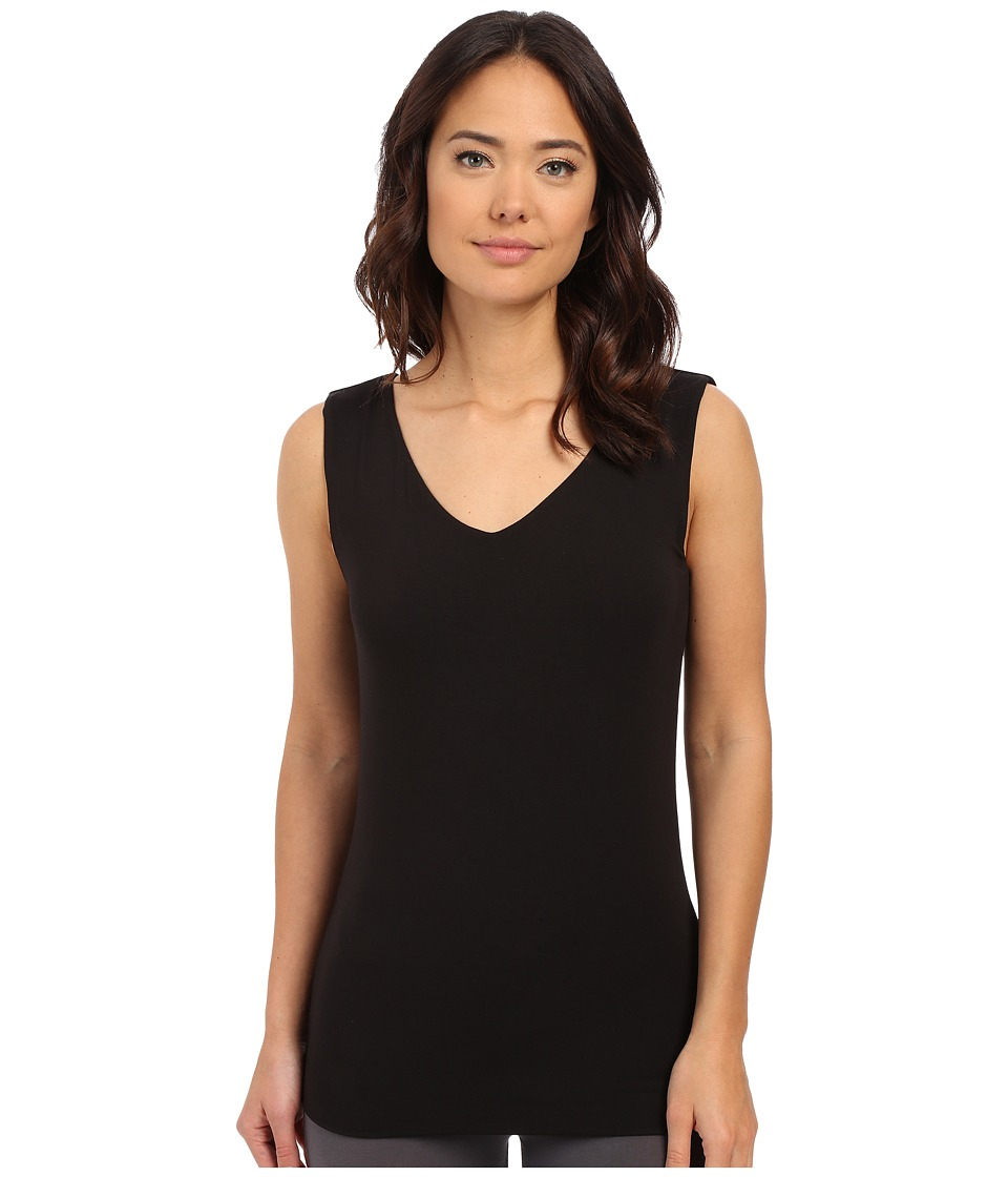 Lysse - V-Neck Hip Tank Top (Black) Women's Sleeveless