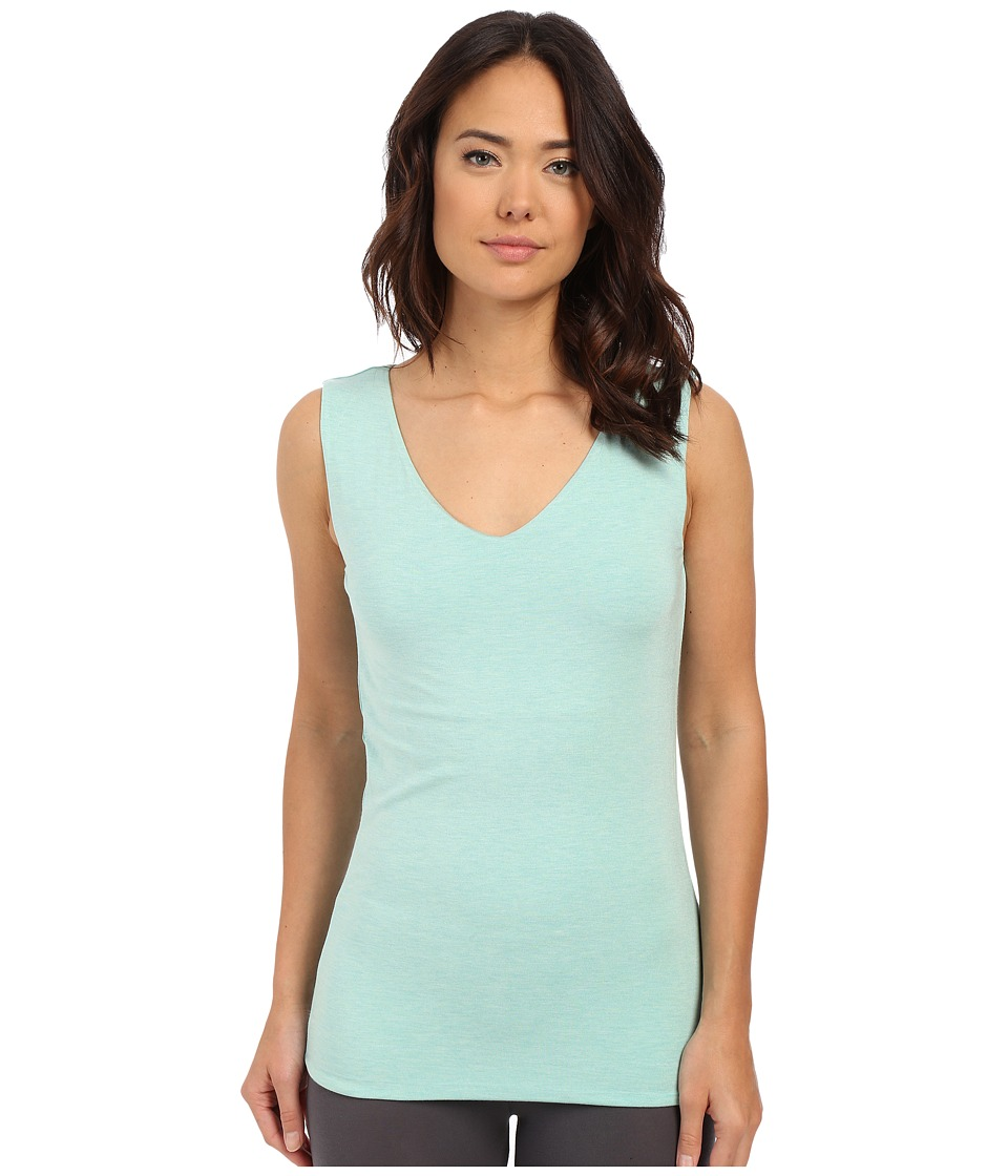 Lysse - V-Neck Hip Tank Top (Seaglass Melange) Women's Sleeveless