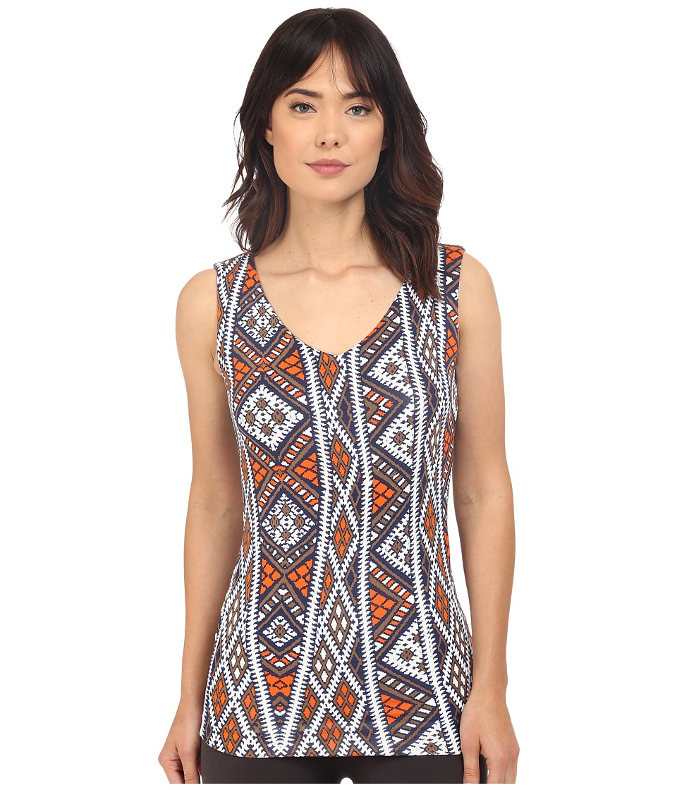 Lysse - V-Neck Hip Tank Top (Tulum Print) Women's Sleeveless