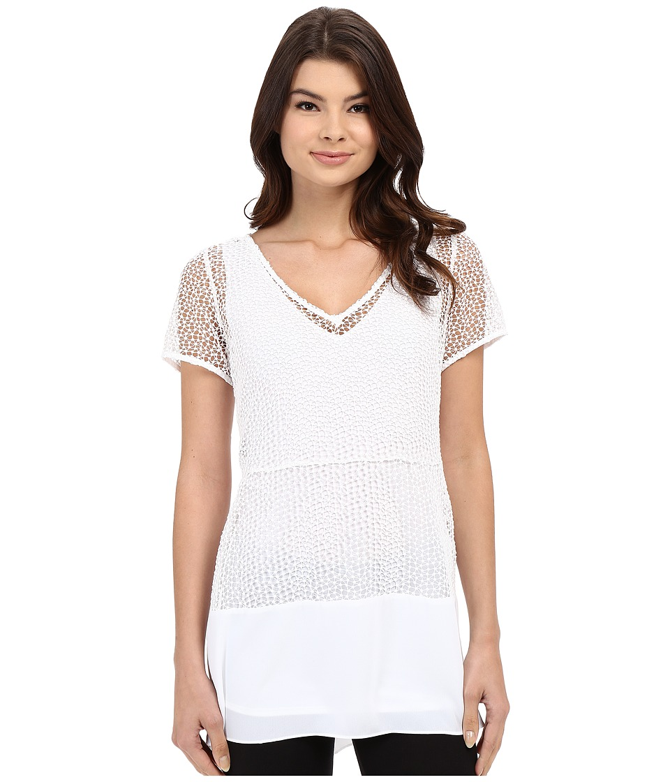 Lysse - Elena Lace Top (White) Women's Clothing