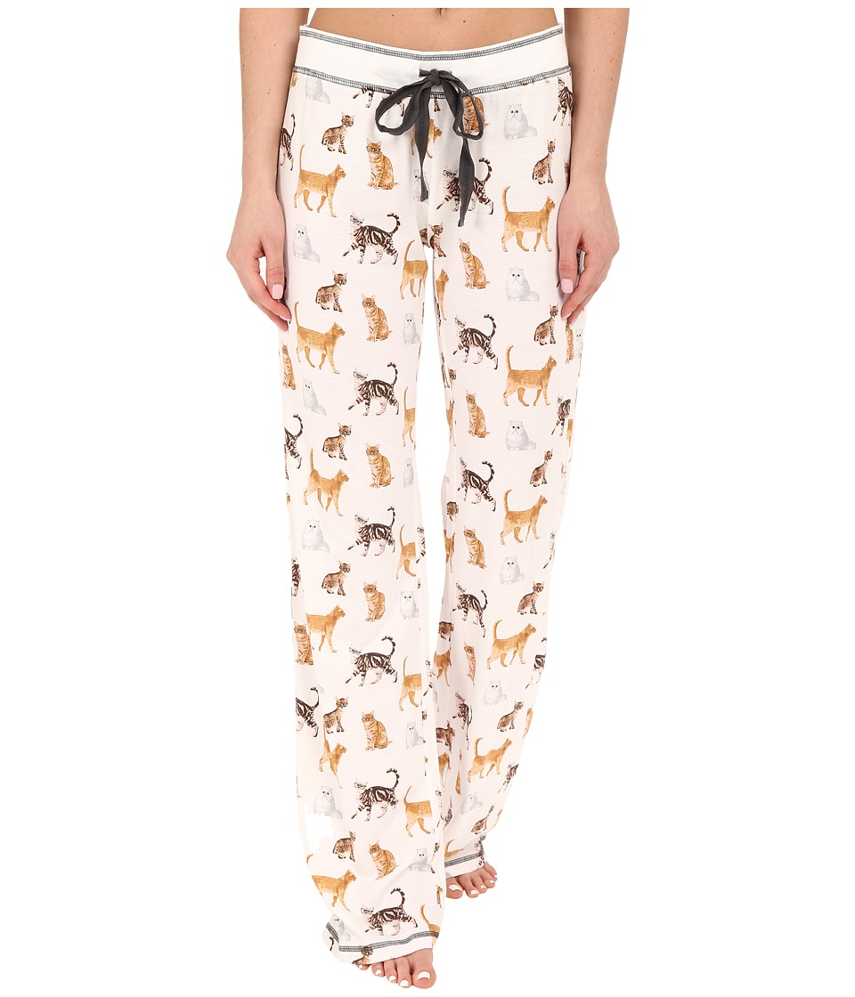 P.J. Salvage - Cat Print PJ Pants (Ivory) Women