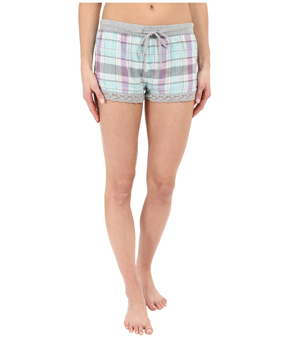 P.J. Salvage - Doubled Sided Plaid Shorts (Multi) Women's Pajama