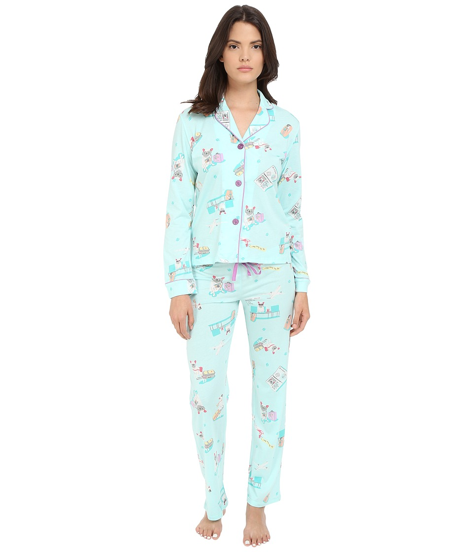 P.J. Salvage - Travel Lily PJ Set (Mint) Women's Pajama Sets