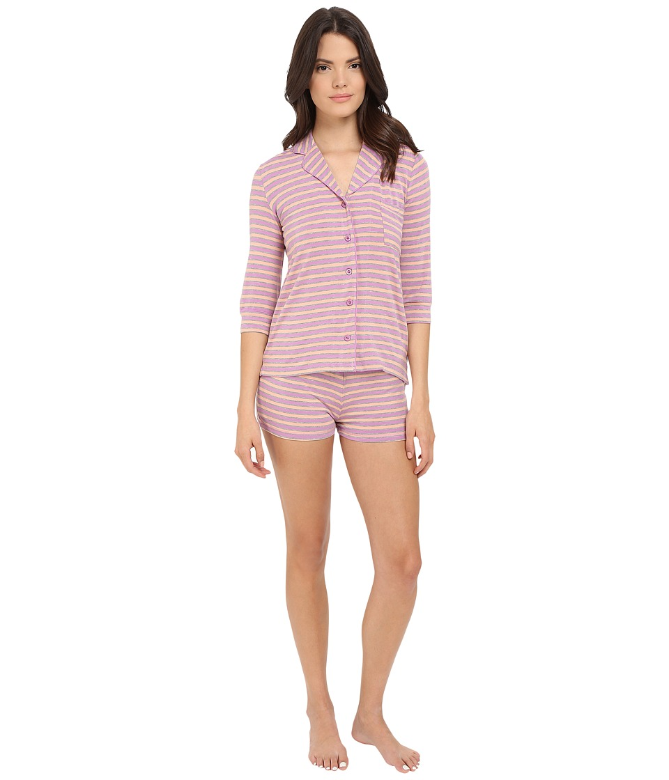 P.J. Salvage - Wisteria Stripe PJ Set with Shorts (Wisteria) Women's Pajama Sets