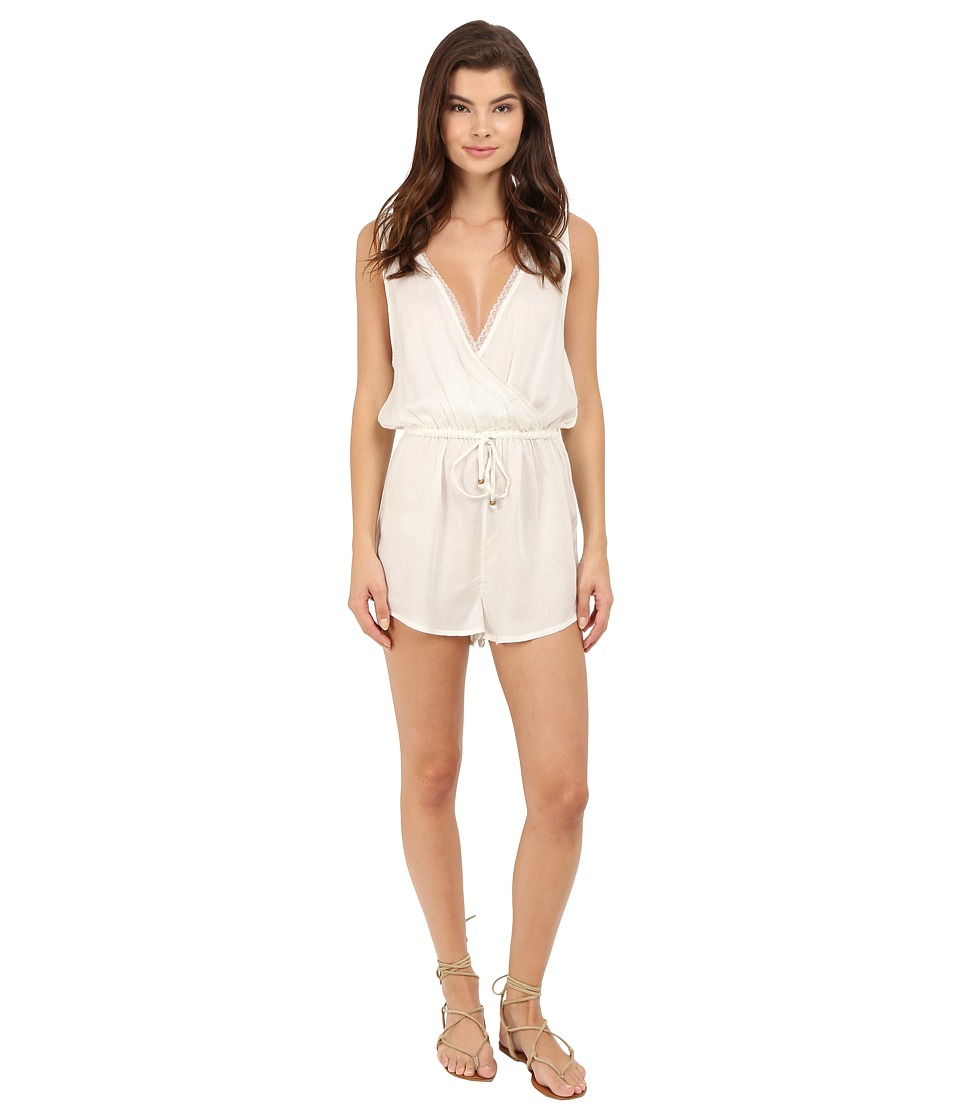 O'Neill - Bungalow Romper Cover-Up (Vanilla) Women's Swimsuits One Piece