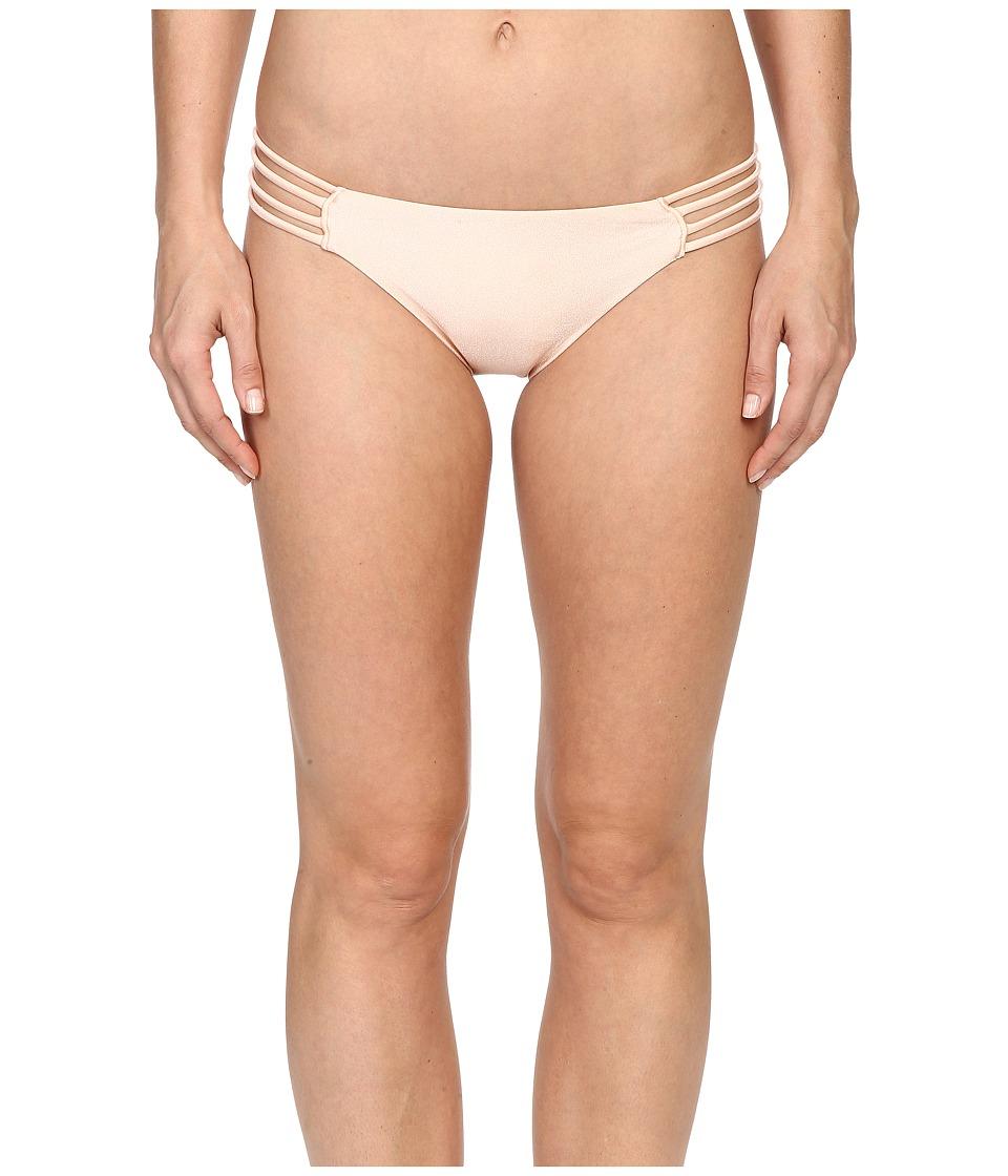 ONeill Lux Solids Multi Strap Bottom Metallic Peach Swimwear