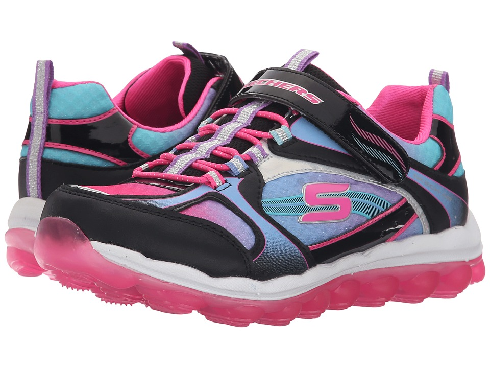 SKECHERS KIDS - Skech Air 80358L (Little Kid/Big Kid) (Black/Blue/Pink) Girl's Shoes
