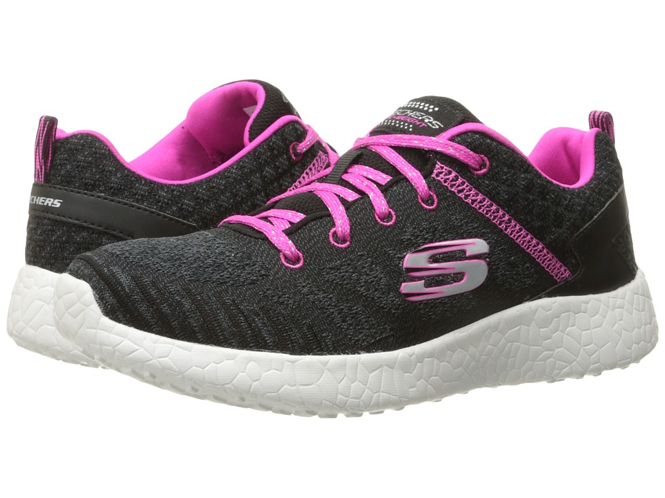 SKECHERS KIDS - Burst 81905L (Little Kid/Big Kid) (Black/Hot Pink) Girl's Shoes