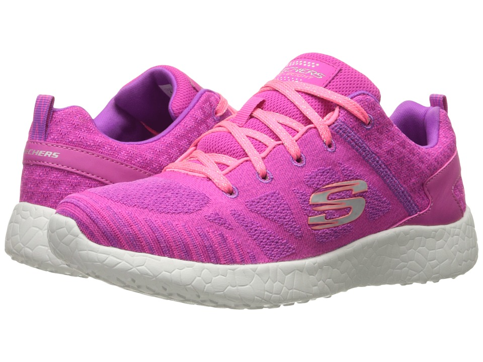 SKECHERS KIDS - Burst 81905L (Little Kid/Big Kid) (Hot Pink/Coral) Girl's Shoes