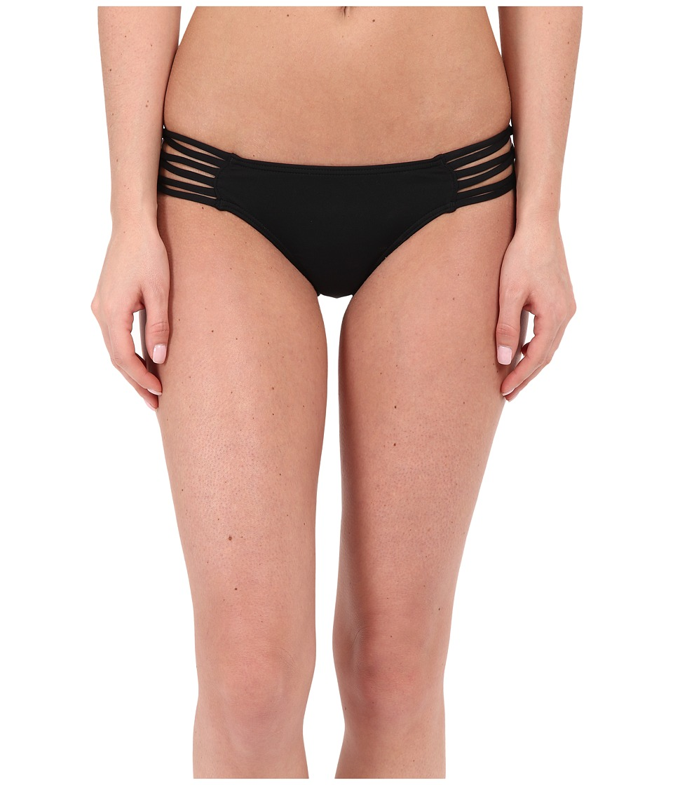 O'Neill - Salt Water Solids Knotted Tab Side Bottom (Black) Women's Swimwear