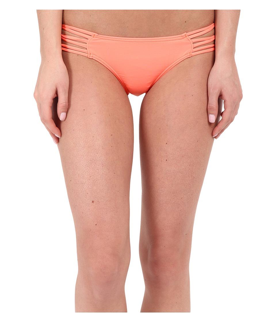 ONeill Salt Water Solids Knotted Tab Side Bottom Grapefruit Swimwear