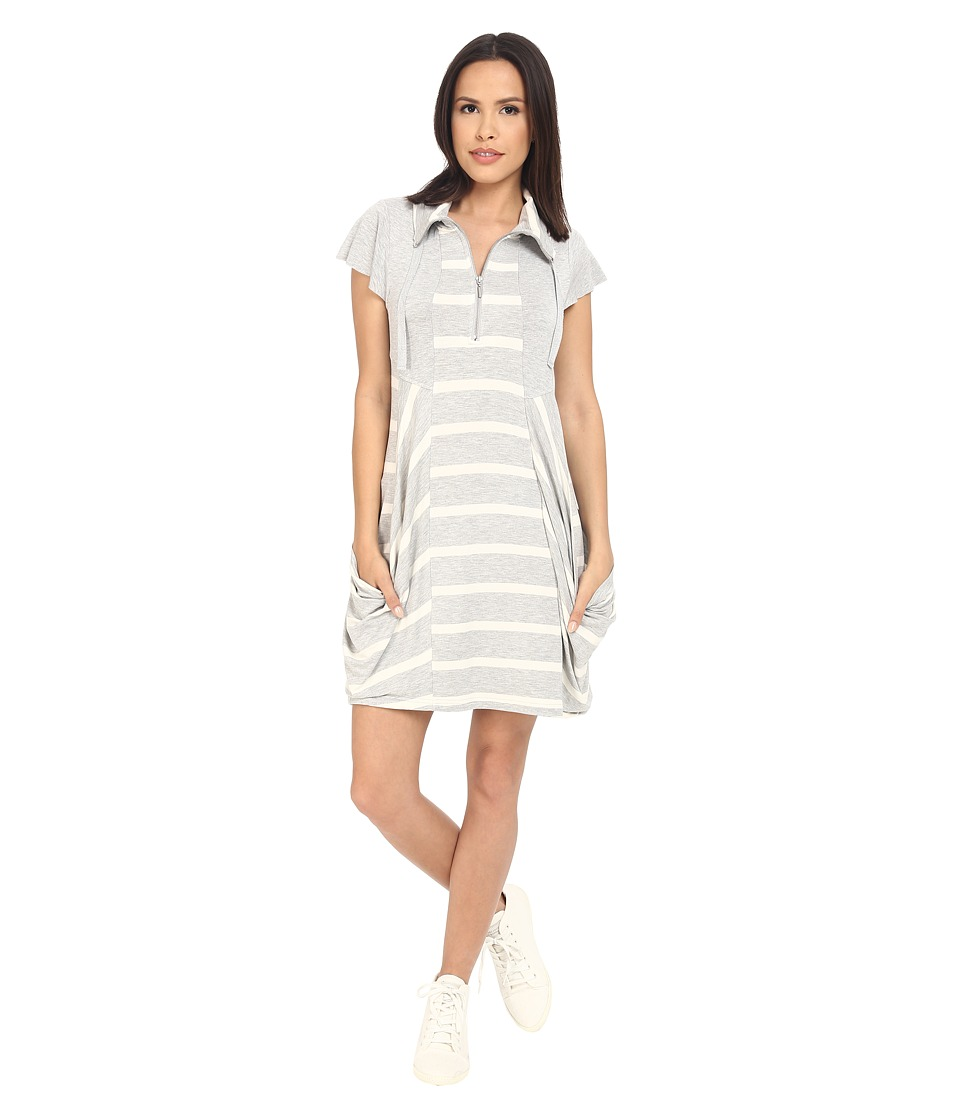 kensie Drapey French Terry Dress KS2K7915 (Heather Fog Combo) Women
