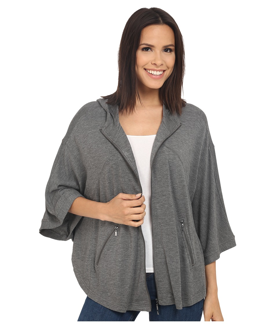 kensie Drapey French Terry Jacket KS2K2238 (Heather Ash) Women