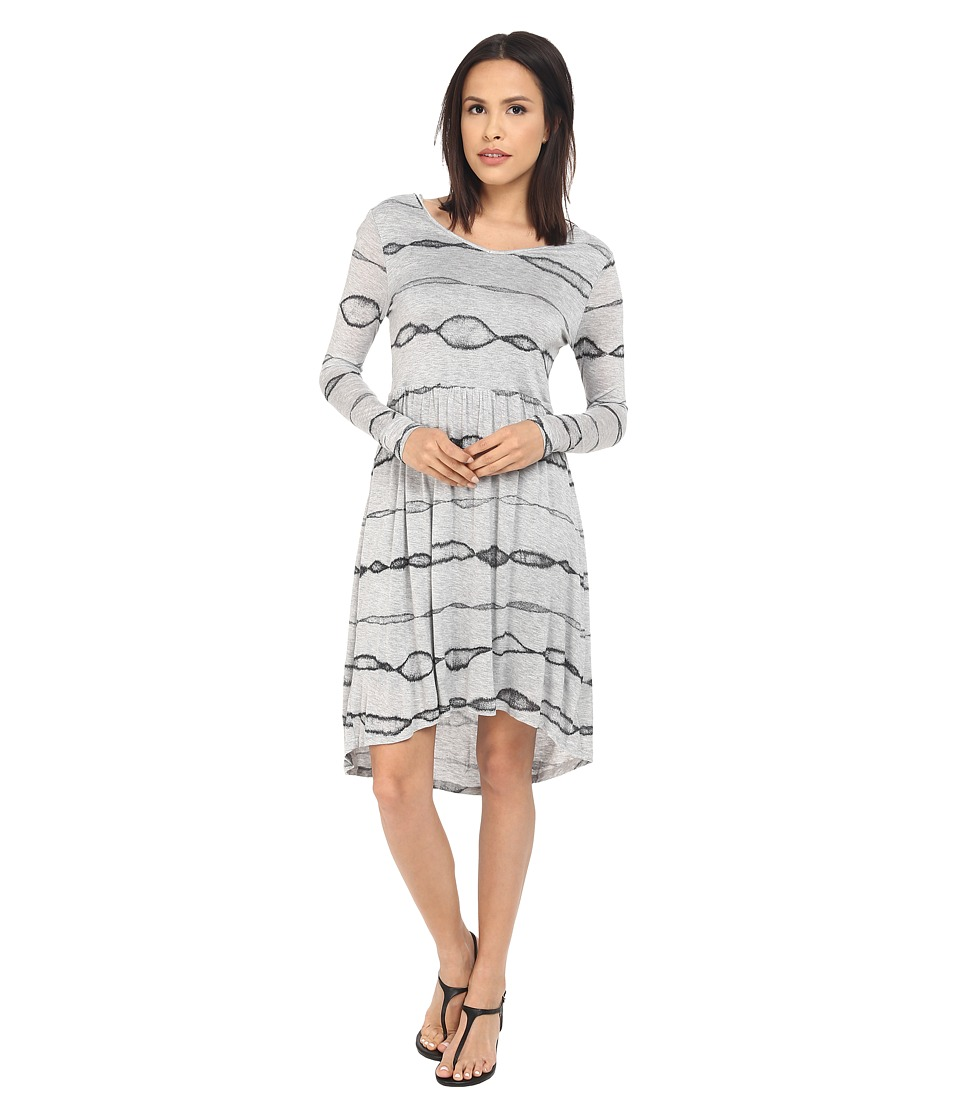 kensie Animal Stripe Dress (Heather Fog Combo) Women
