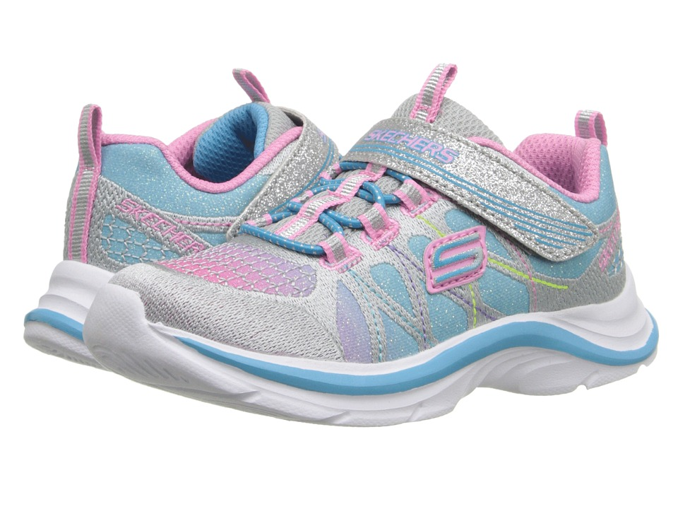 SKECHERS KIDS - Color Spark 81494N (Toddler) (Silver/Multi) Girl's Shoes