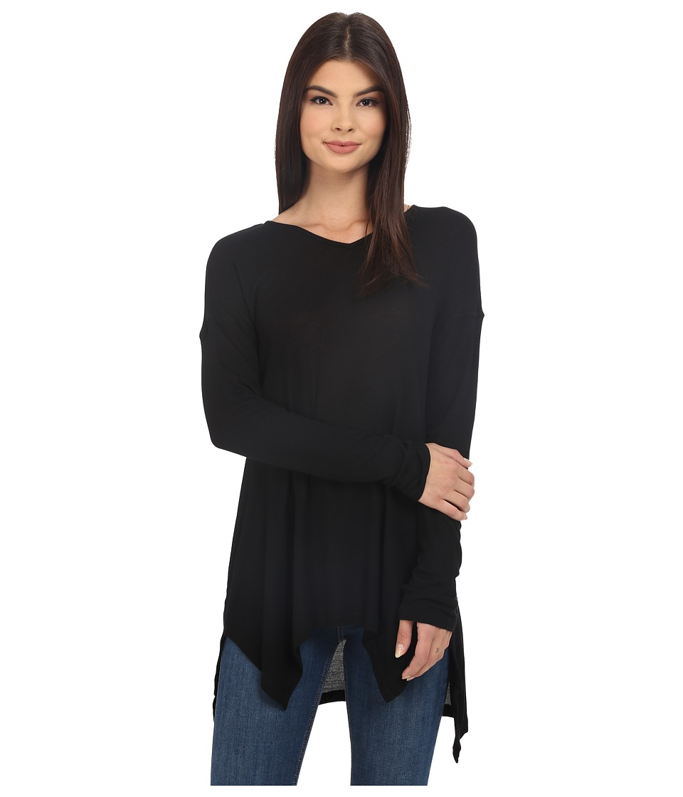 kensie - Slubby Rib Jersey KS2K3932 (Black) Women's Clothing
