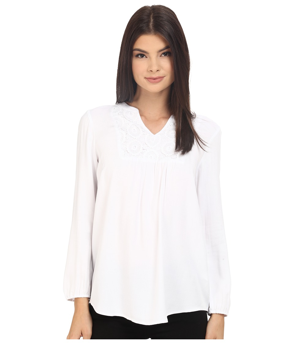 kensie - Soft Rayon Twill Top KS3K4626 (White) Women's Blouse