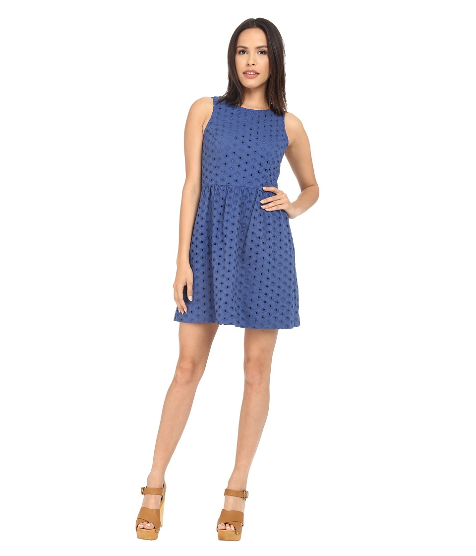 kensie - Daisy Dot Eyelet Dress KS3K7835 (Midnight Sapphire) Women's Dress