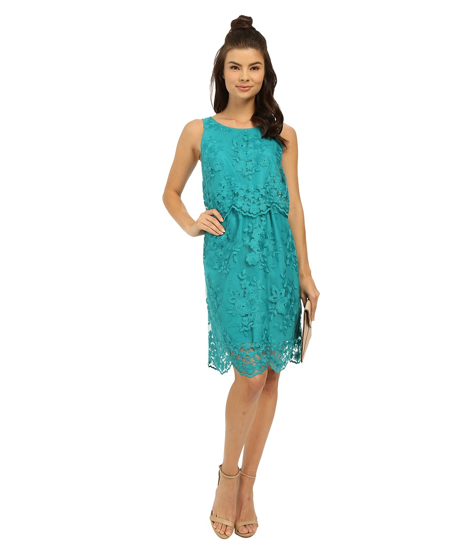 kensie - Scattered Flowers Dress KS3K7862 (Atlantic Teal) Women's Dress