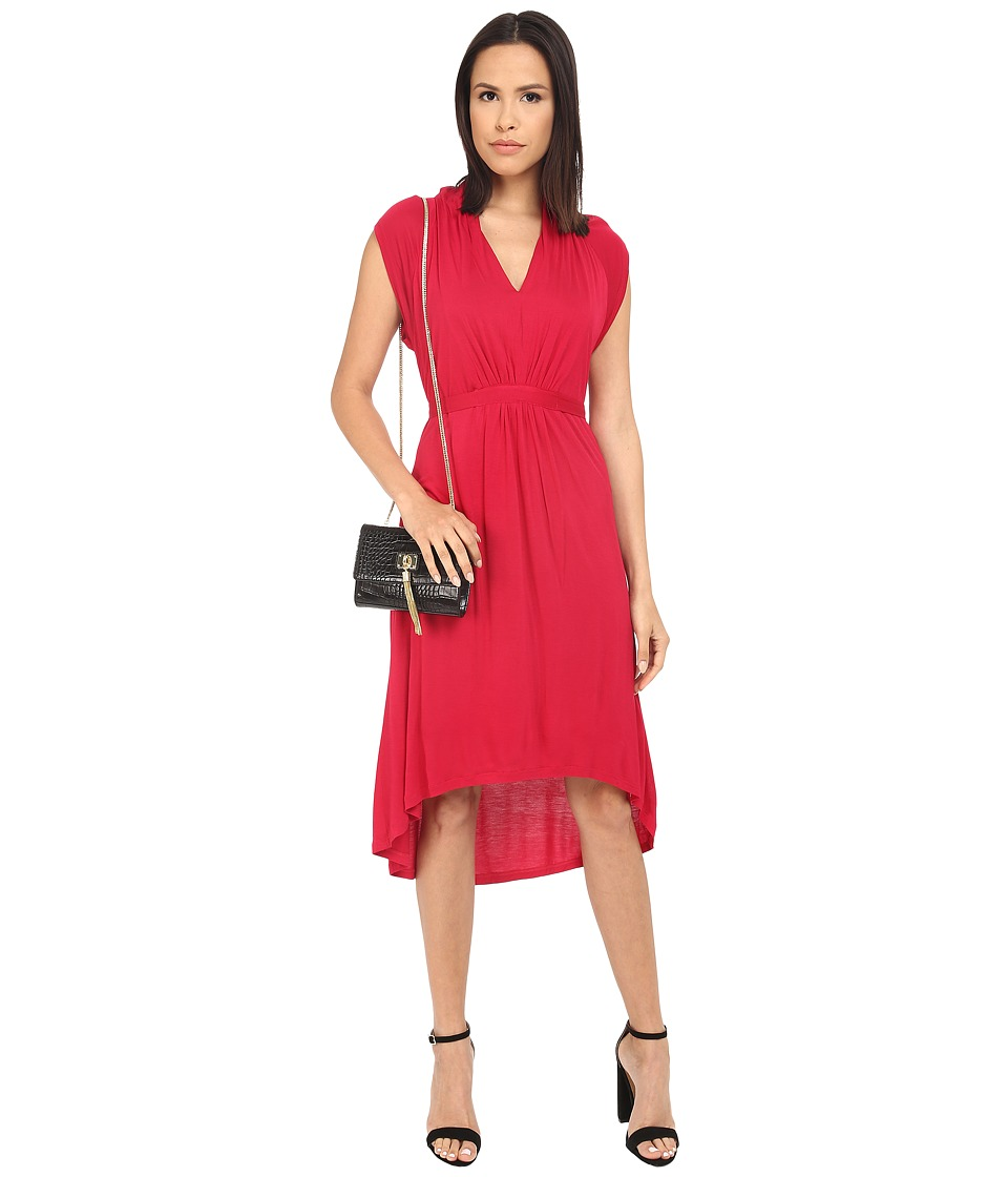 kensie Sheer Viscose Tee Dress KS4K9051 (Cherry) Women