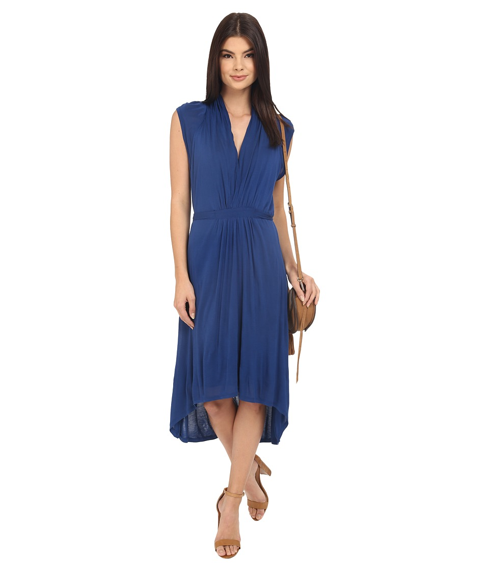 kensie Sheer Viscose Tee Dress KS4K9051 (Midnight Sapphire) Women