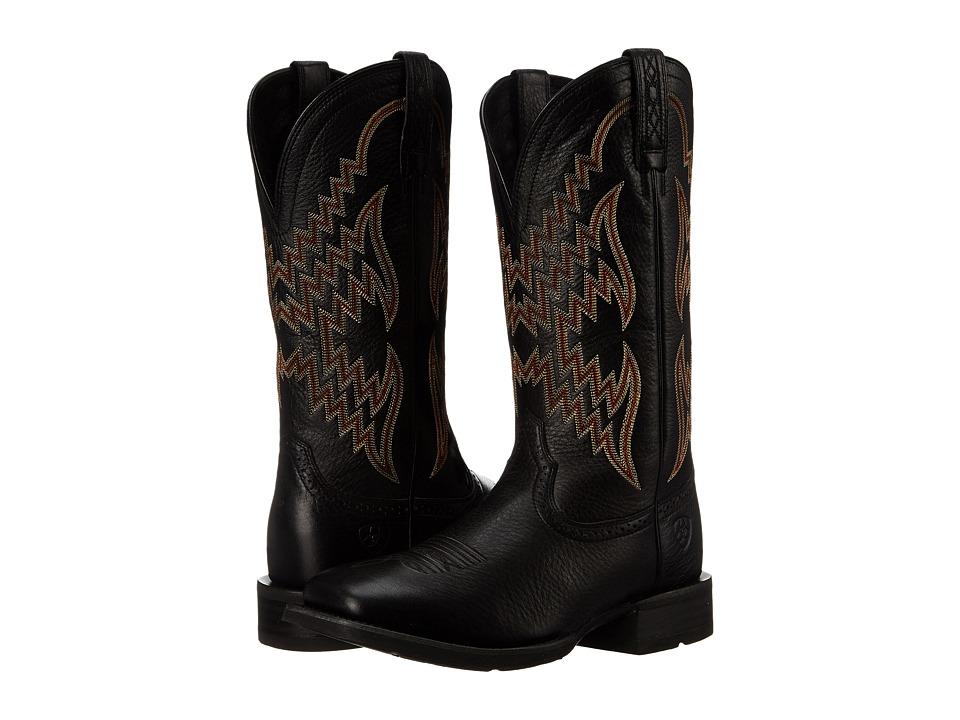 Ariat - Tycoon (Black Deertan) Cowboy Boots