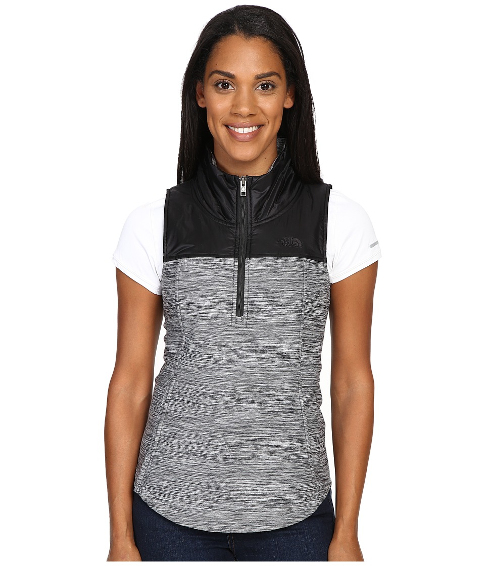 The North Face - Pseudio 1/2 Zip Vest (TNF Dark Grey Heather/TNF Black) Women's Vest