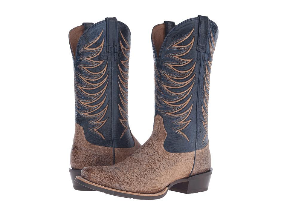 Ariat - Crosswire (Quicksand/Estate Blue) Cowboy Boots