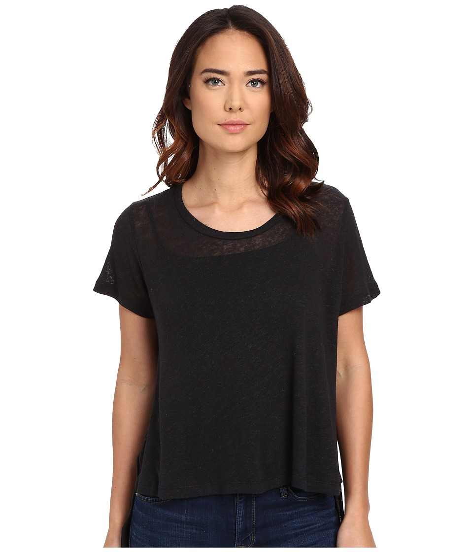 LNA - Glasser Swing Tee (Vintage Black) Women's Short Sleeve Pullover